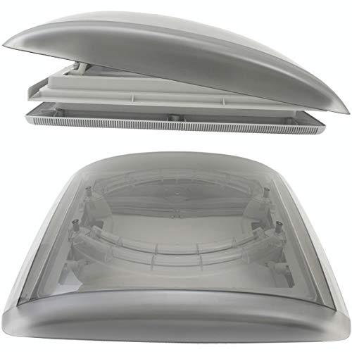 MPK VisionVent M getönte Klarglas Dachluke Dachfenster Dachhaube 40 x 40 mit Rollo und Netz grau