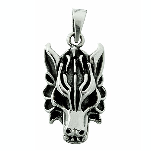 Wolfskopf Wolf Anhänger Edelmetallstempel 925 Sterling Silber 8,5 g BELDIAMO