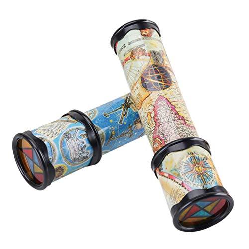 TOYANDONA 2 Stück Kinder-Kaleidoskop Lernspielzeug alte Welt Kaleidoskop Klassisches Spielzeug für Jungen und Mädchen Geschenke (zufällige Farbe)