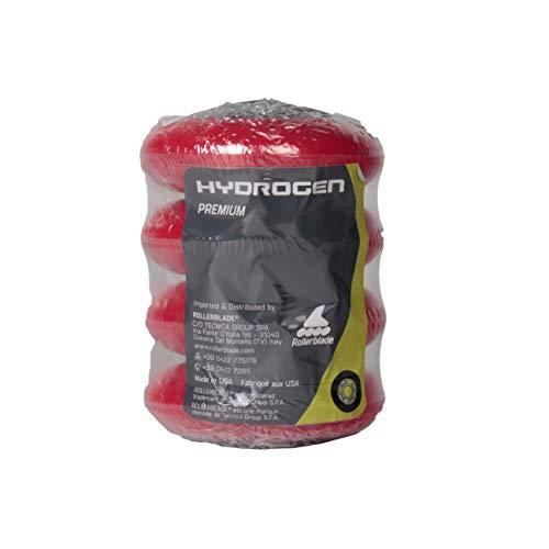 Rollerblade Ruedas Hydrogen BMS 76/FP0 (4PCS), Adultos Unisex, Rojo, Talla Única