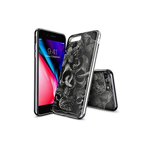 XiASoNFu Compatible con iPhone 7 Plus Funda, iPhone 8 Plus Funda, Suave Silicona Funda con Encantador Motivo, Ultraligera, Funda Protectora de TPU para iPhone 7 Plus/iPhone 8 Plus #C005