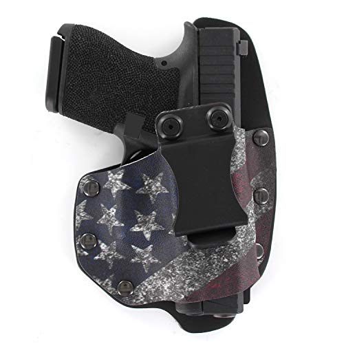 Infused Kydex USA Slanted Flag IWB Hybrid Concealed Carry Holster (Right-Hand, Walther PPS M2)