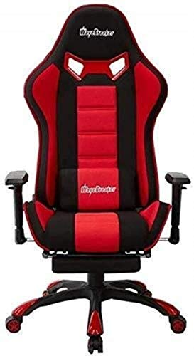 Barstools THBEIBEI Swivel Chair- Office Chair Gaming Chair, Home Office Computer Racing Exclusive Swivel Leather Chair with Recliner and Footrest (Color : Red, Size : H(42-53) cm)