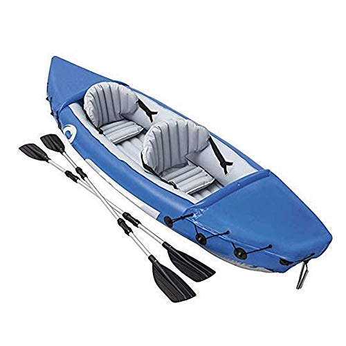 JNWEIYU Kayak Inflable Yukón, Canadá 2 Man Canoa, Kayak de mar con el Bolso, manómetro y Fin, de 321 x 88 Cm