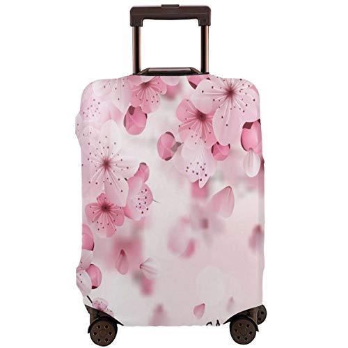 Delerain - Funda para Maleta de Viaje con diseño de Flor de Cerezo Lavable de Spandex, se Adapta a Fundas de Equipaje de 18 a 32 Pulgadas de Alto elástico, con Cremallera