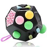 VCOSTORE Fidget Cube 12 Seiten Stresswürfel, Angst Entlastung, Tragbares Anti Stress Spielzeug für...