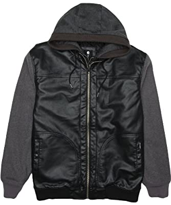 Billabong Men's Future Zip Up Hooded Jacket, Charcoal, Large by Billabong Young Mens