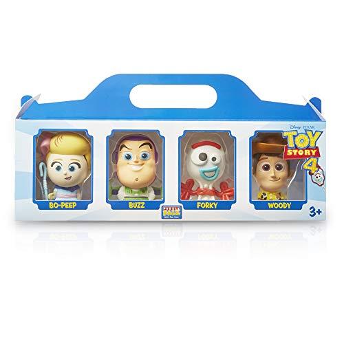 Disney Toy Story 4 Forky, Woody, Buzz y Figura de Bo Peep, Juego con 4 Figuras de Acción, Set de Figuras 4 Minis Personajes, Juguetes De Colección, Juguetes niños +3 años