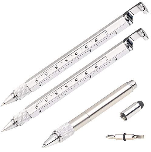 PEARL Stylus Pen: 7in1-Kugelschreiber mit Touchpen, Schraubendreher & mehr, 2er-Set (Multifunktions Kugelschreiber)