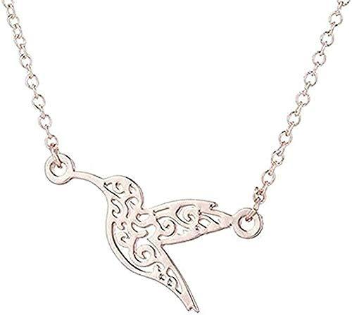 Liuqingzhou Co.,ltd Collar Collar joyería Origami colibrí Collar para Mujer Simple pájaro Volador Collar Cadena Larga Collares Colgante Collar Regalo para Mujeres Hombres niñas niños