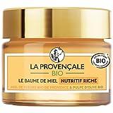La Provençale Bio – Baume de Miel Nutritif Riche – Miel de Fleurs Bio IGP Provence et Pulpe d'Olive Bio – Pour Tous Types de Peau Même les Plus Sensibles - 50 ml
