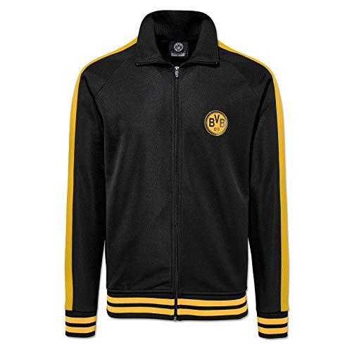 Borussia Dortmund Retro Trackjacket Jacke (XL, schwarz/gelb)