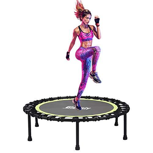 Gielmiy, trampolino per fitness, 122 cm – 122 cm, silenzioso, per allenamento cardio trainer, carico massimo 160 kg