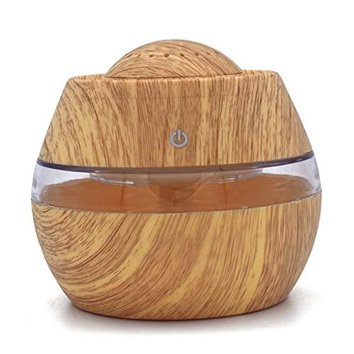 QiKun-Home 300ML USB ultrasonique Bureau à Domicile Yoga humidificateur diffuseur d'huiles essentielles humidificateur d'air aromathérapie électrique brumisateur Couleur Bois Clair