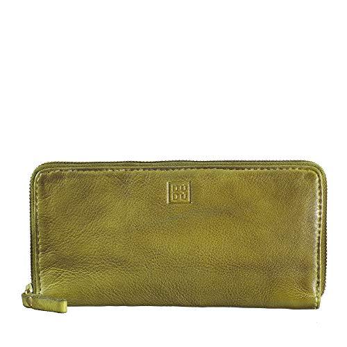 DUDU Portafoglio Donna con Cerniera Zip Around Grande Pelle Vintage Borsello Multi Tasche Portamonete Pistachio Green