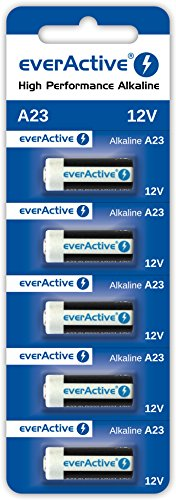 5 x EverActive Lot de 20 Piles alcalines MN21 A23 12 V V23GA -23 A (1 Carte Blister)