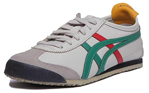 Onitsuka Tiger Mexico 66, Zapatillas de Entrenamiento Unisex Adulto, Multicolor (Birch/Green 1684), 42.5 EU