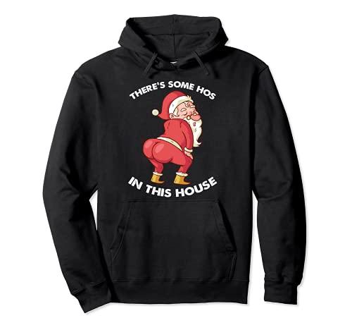 C'è alcuni Hos in questa casa divertente Natale Babbo Natale Felpa con Cappuccio