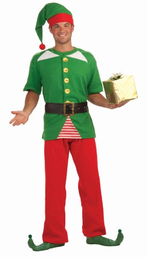 Forum Novelties Men's Jolly Elf Kit, Multi, One Size