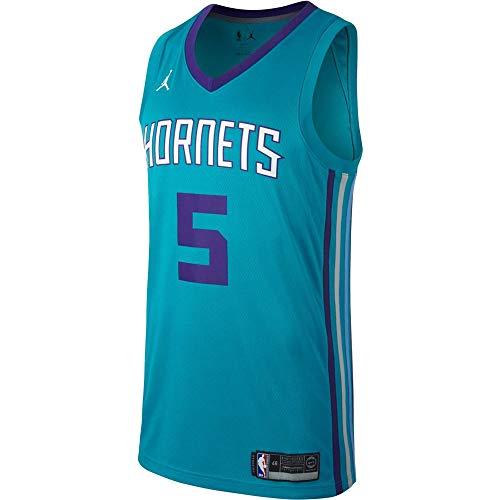 NIKE Cha M Nk Swgmn JSY Road Camiseta NBA Nicolas Batum, Hombre, Rapid Teal/New Orchid