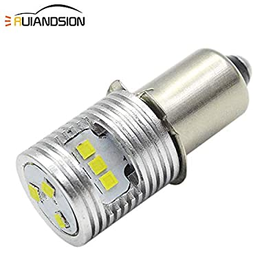 Ruiandsion Upgrade LED Flashlight Bulb 6-24V P13.5S Base Bulbs High Power CSP 9SMD Chipset Replacement for Headlamp Flashlight Torch LED Conversion Kit Bulb,Non-Polarity (Pack of 1)