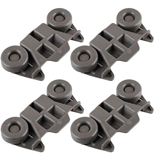 Siwdoy (Pack of 4) W10195416 Dishwasher Wheel Compatible with Whirlpool Dish Rack AP5983730