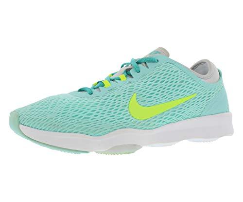 Nike Wmns Zoom Fit, Scarpe da Tennis Donna, Blu/Foglia di tè/Giallo/Platino (Artsn Teal VLT Pr Pltnm Lt RTR), 36.5 EU