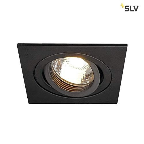 Preisvergleich Produktbild SLV LED Deckeneinbaustrahler NEW TRIA 78 I eckig,  QPAR 51,  GU10,  single,  einflammig,  CS,  Clipfeder,  schwarz,  Einbauleuchte,  Deckenstrahler,  dreh- und schwenkbare Deckeneinbauleuchte,  Indoor