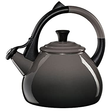 Le Creuset Enameled Steel 1.6 Quart Oolong Tea Kettle, Oyster