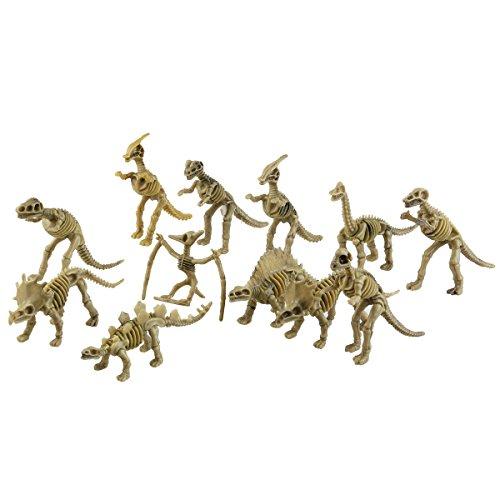 TOYMYTOY Dinosaurier Skelett Figuren Kinder Spielzeug 12 Stück (Zufälliger Stil)