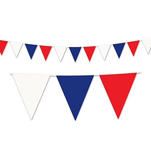 Beistle Red Blue Outdoor Pennant Banner, 17 by 120-Feet