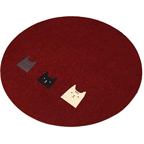 NINGWXQ Rond Tapijt Vloerkleed Mat Stoelmatten for Harde Vloeren de Woonkamer Gebied Tapijt Tapijt Slaapkamer Vloerkleed Mat Thuis Textiel, 3 Kleuren (Color : Brown, Size : Diameter-120CM)