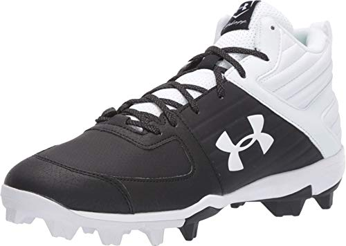 Under Armour Men's Leadoff Mid RM Baseball Shoe, Black (002), 9