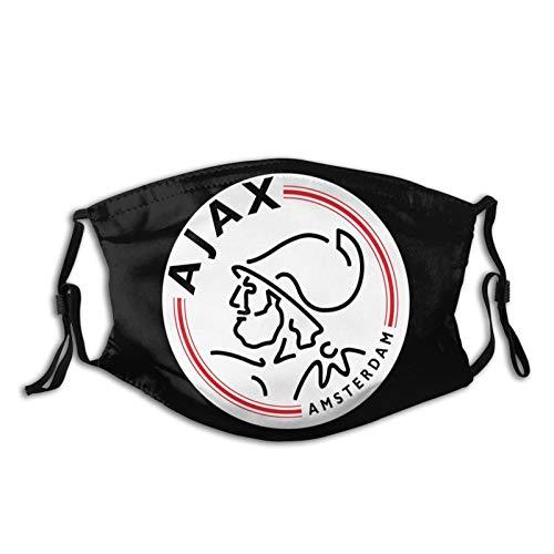 Shanghao Amsterdamsche Football Club Ajax Gesichtsschalabdeckung Mundabdeckung mit 2 Filtern Außenschutz