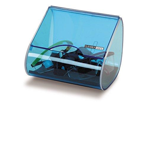 Heathrow Scientific HD1041 - Dispensador de gafas para pared (acrílico, 227 mm x 162 mm x 156 mm), azul transparente