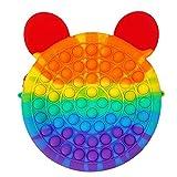 Fidget Bolsos de Hombro,Pop it Fidget Toy, Juguete Sensorial Antiestres para Niños y Adultos , Bubble Push Pop , Juguetes de Explotar Burbujas para Aliviar Ansiedad y Estrés Bolso Diagonal Creativo