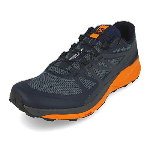 Salomon Sense Ride Trail Running Shoe - Men's Navy Blazer/Bright Marigold/Ombre Blue 12.5