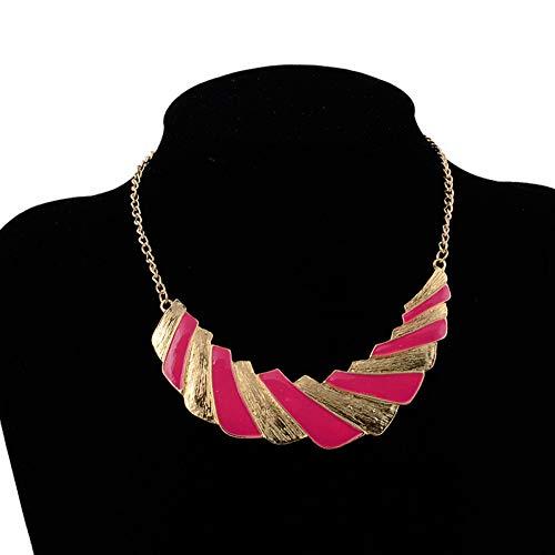 AISHIPING Vintage Punk Emaille geometrische patronen rechthoekige verklaring halskettingen voor vrouwen hoogwaardige partij sieraden accessoires