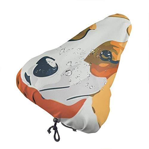 GOSMAO Funda para Asiento de Bicicleta con Estampado de Perro Jack Russell Terrier, Funda para Asiento de Bicicleta, Funda para Lluvia, Funda de cojín para Asiento de Bicicleta Resistente al Polvo