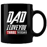MUG739 - Tazza da caffè con scritta 'Avengers End Game Iron Tony Stark Man', idea regalo per la festa del papà