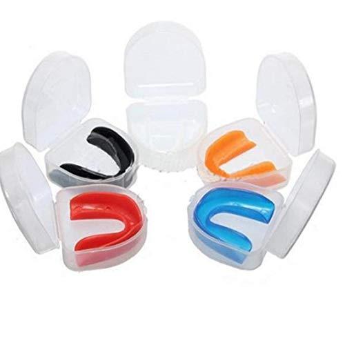 Amoyer Haushalt Zähne Schutz Silikon Mundschutz Nacht Zähneknirschen Anti Snore Schlafen Zufällige Farbe