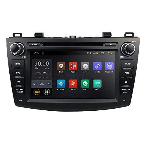 hizpo Android 9.0 OS 8 Zoll 2 Din Autoradio Moniceiver DVD GPS Bluetooth Navigation Lenkradbedienung für Mazda 3 2010 2011 2012 2013