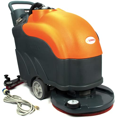 Walk-Behind Floor Scrubber, 22' Brush, Corded, 19ft Cable Length, 200 RPM, 31' Squeegee Width