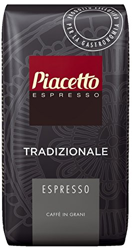 Piacetto Espresso Tradizionale, 1.000g Kaffee | Ganze Bohne | Robusta-Arabica Mischung | Ideal für Vollautomaten | Einzigartige Piacetto-Kaffeequalität