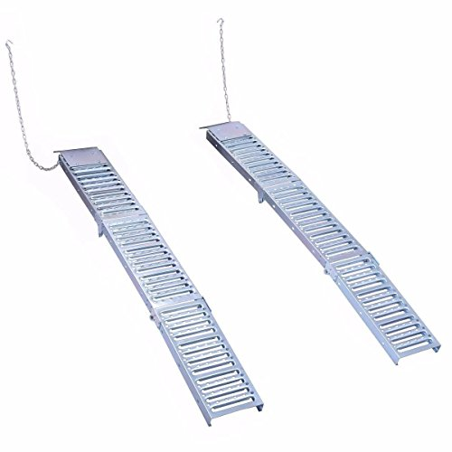 Goplus Set Of Two 9'x 72' Steel Folding Loading Ramps for ATV Truck Trailer Car Lawn Mower, 1000lb Capacity (Foldable)