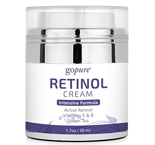 goPure Retinol Cream for Face - Anti Aging Face Cream - Anti Wrinkle Cream Face Moisturizer - Retinol Night Cream in Airless Jar - 1.7oz