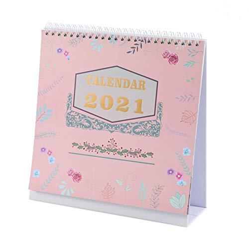 You&Lemon Schreibtisch Kalender, 22 * 21 CM, Januar 2021- Dezember 2021,Tagesplaner, Desktop Kalender 2021 für Schule, Büro, Zuhause
