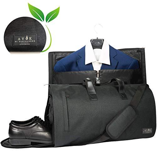 Avok - Bolsa porta ropa de viaje - Sistema antiarrugas, USB, compartimento para zapatos con filtro antiolor, correa - equipaje de mano para cabina aérea