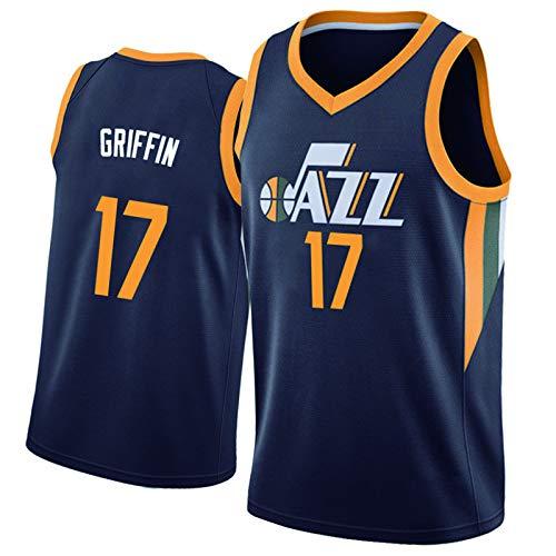 LYDG Jazz 45 #, Gobel 27 #, uniforme de baloncesto, malla azul oscuro, transpirable, secado rápido y resistente al desgaste (S-XXL), número de balón opcional 17#-M