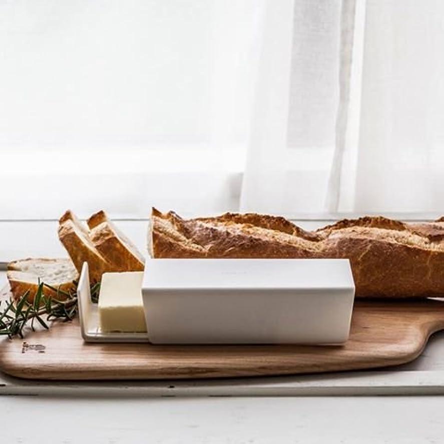 遠征届けるあたたかいkc062wh/バターケース 単品 オフホワイト|バターケース バター ケース バター入れ 容器 sarasa design